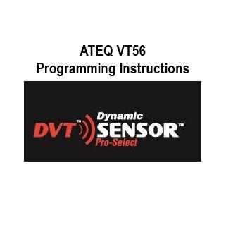 ATEQ VT56 Programming Instructions