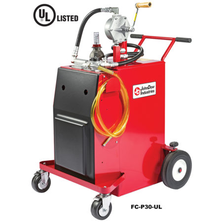 PRO30 30-Gallon UL Listed Steel Gas Caddy With Manual or Air Operated Pump
