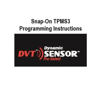 Snap-On Programming Instructions